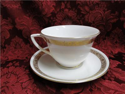 Royal Worcester Golden Anniversary, Gold Flowers & Band: Cup & Saucer Set (s)