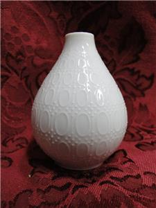 Rosenthal Romance, All White w/ Embossed Ovals: Pepper Shaker, 7 Holes, 2 3/4""