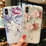 LA BOUTIQUE CHOU 5618 / For iPhone 8 Coque Fleurie pour iPhone