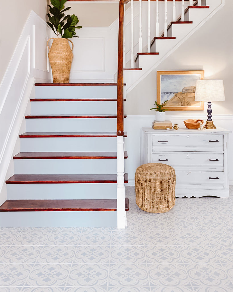 diy Stencil Floor Tile