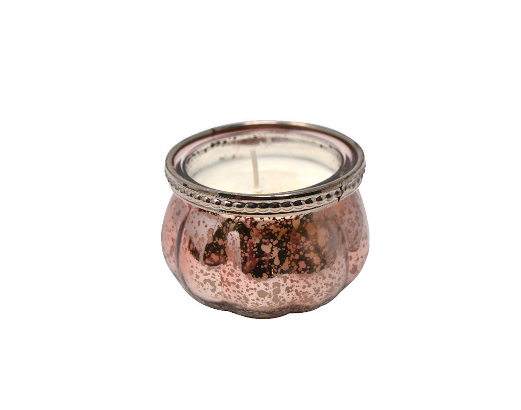 Vanilla Cake Candle | Blush Pink Mercury Glass