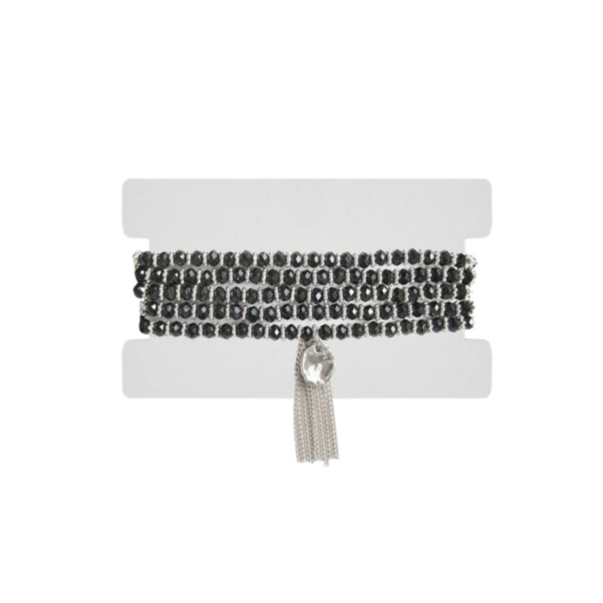 Anna 2-in-1 Bracelet + Necklace | Black
