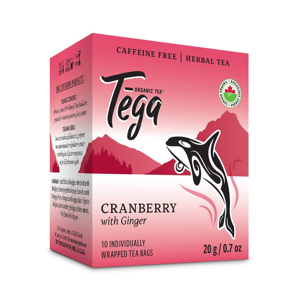 Organic Cranberry Ginger Herbal Tea | Pack of 10
