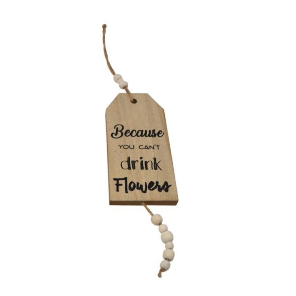 Wine Sign Bottle Tag | Flowers