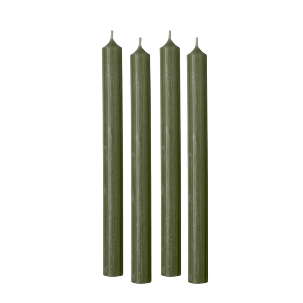 Set of 4 Tapers | Moss Green
