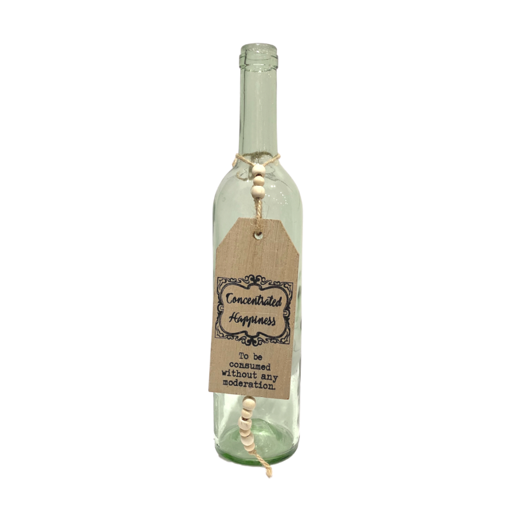 Wine Sign Bottle Tag | Happiness