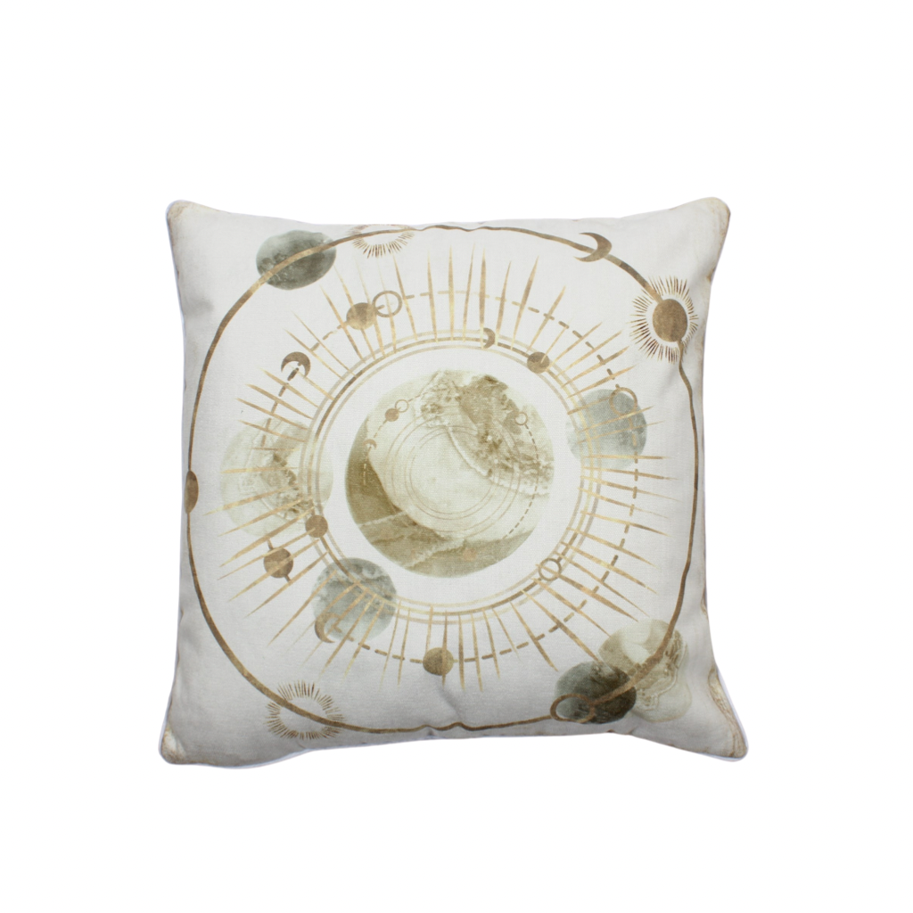 Celestial Gold Earth Pillow