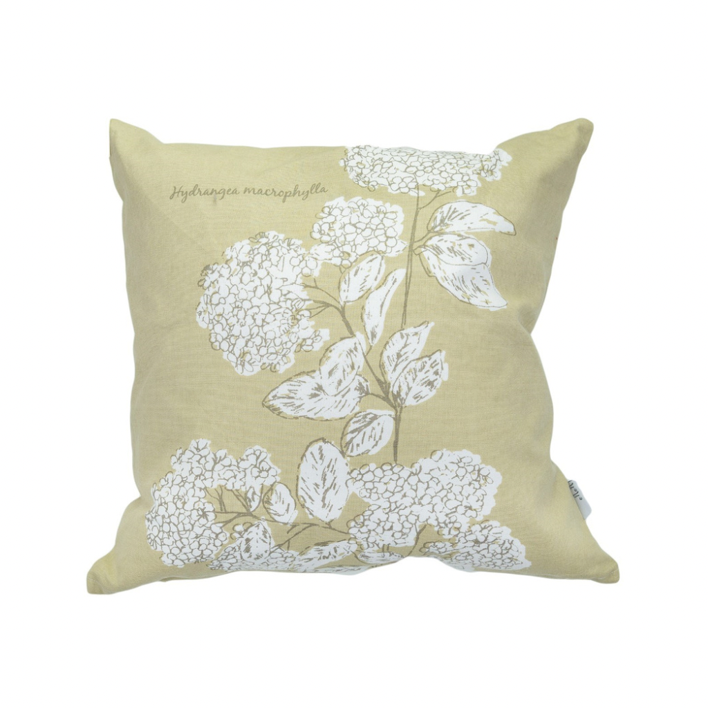 Painted Flower Pillow | Butter Cream