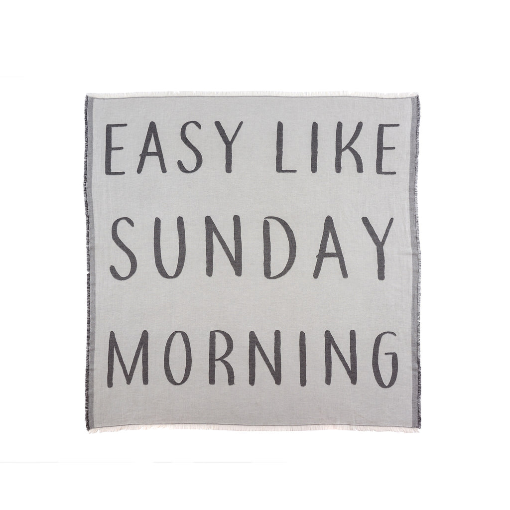 Easy Like Sunday Morning | Throw Blanket