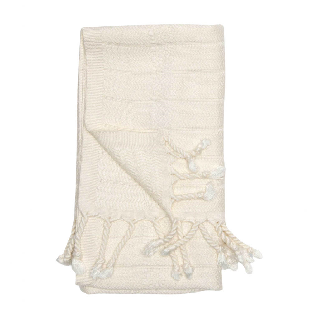 Bamboo Turkish Hand Towel | Cream