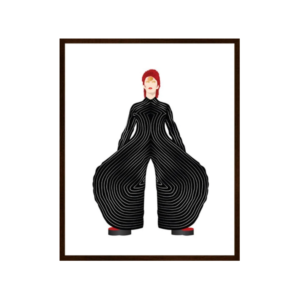 David Bowie | Black Suit | Art Print