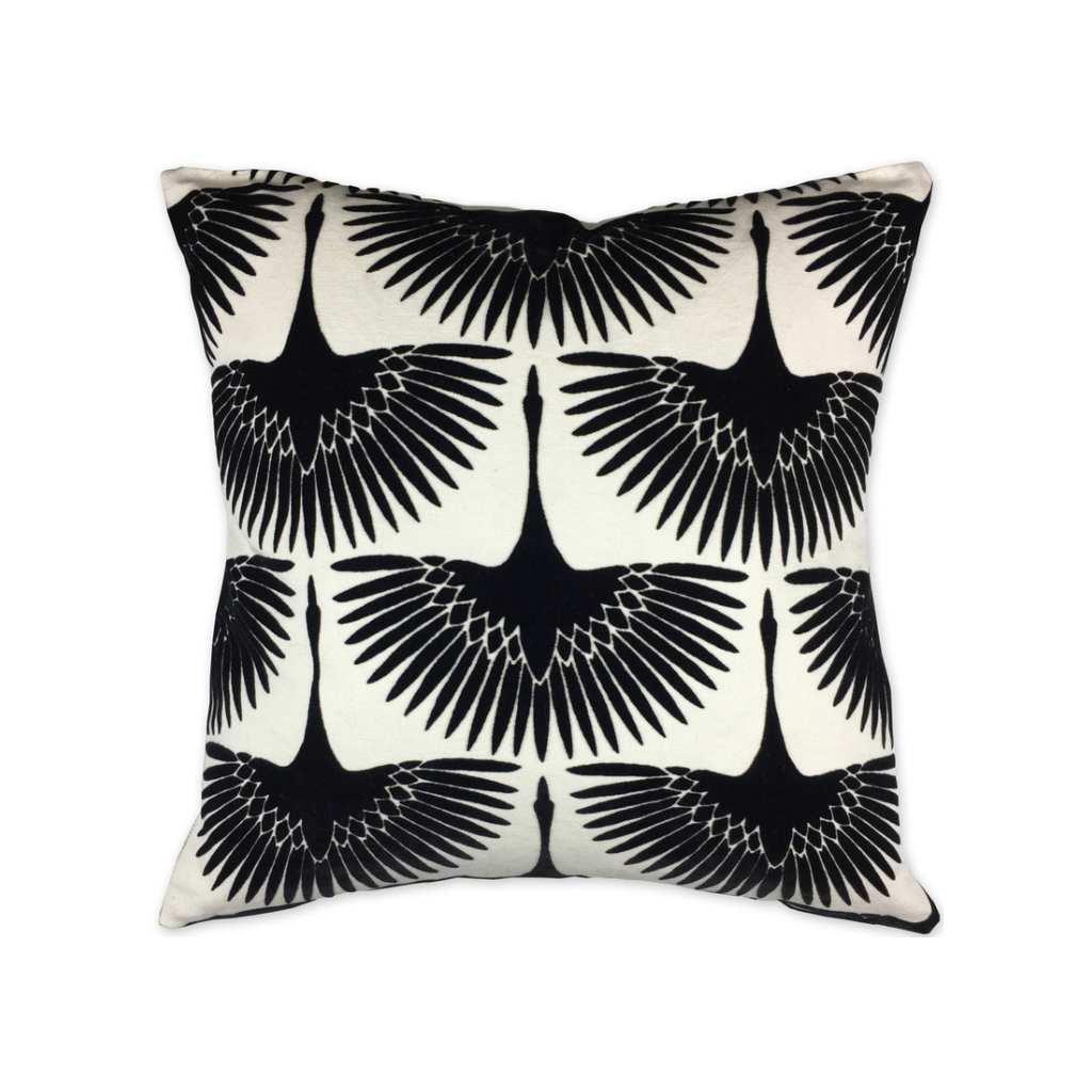What The Flock Pillow | Black + White