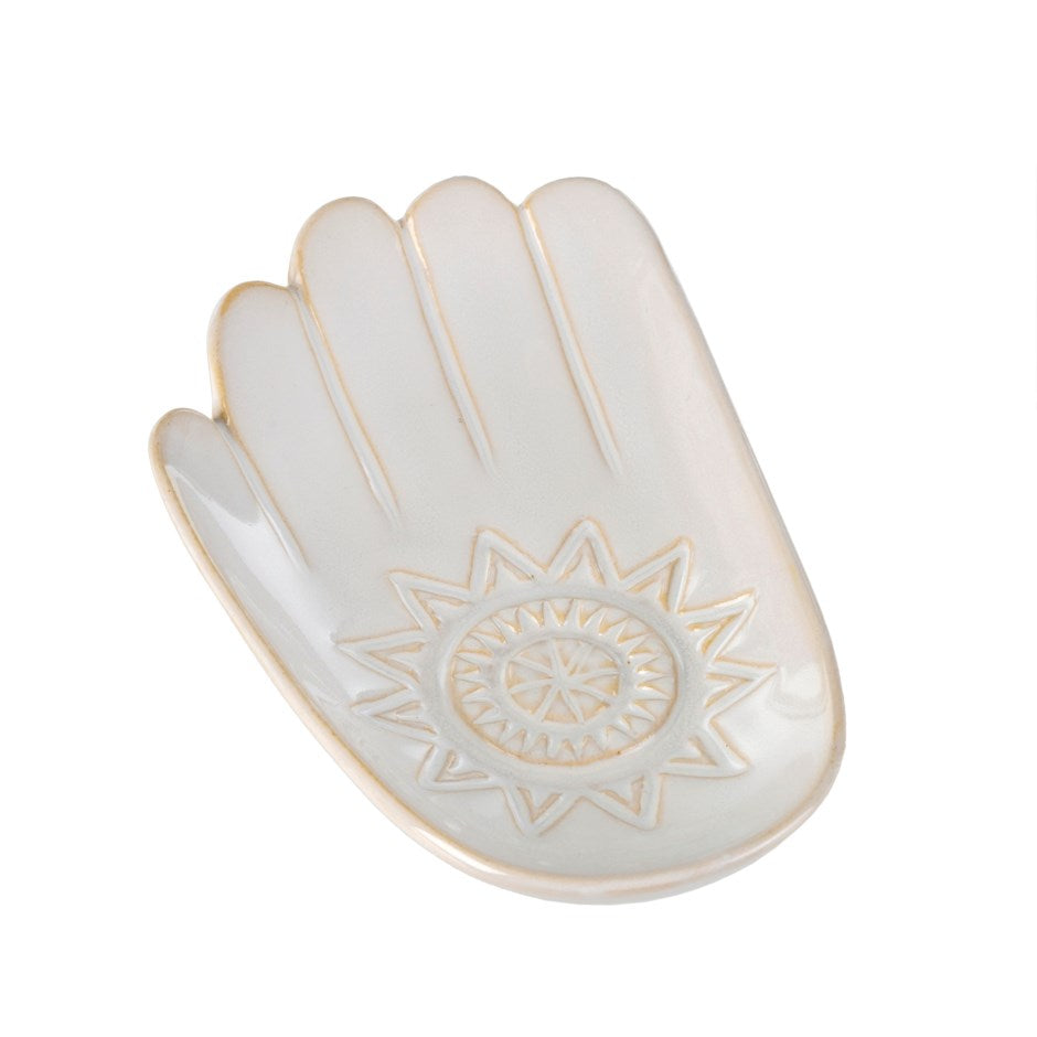 Hamsa Fortune Dish | White | Large