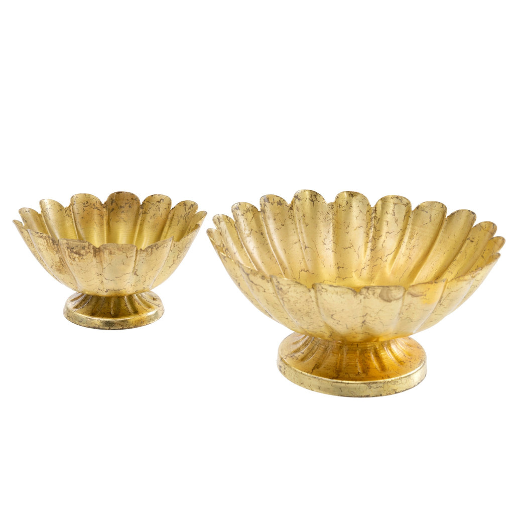 Beaumont Iron Pedestal Dish Set | Gold