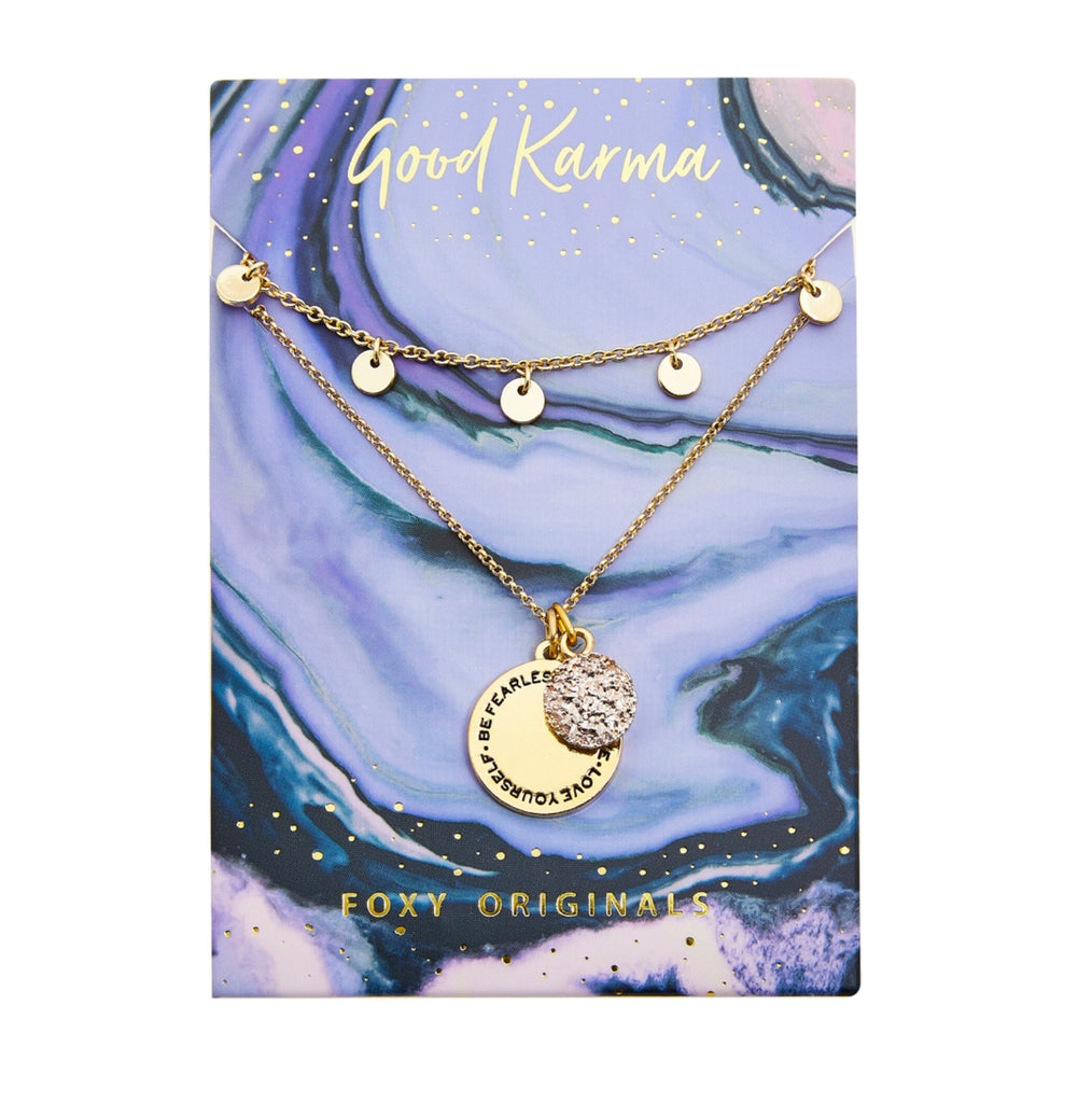 Good Karma Fearless Necklace | Gold