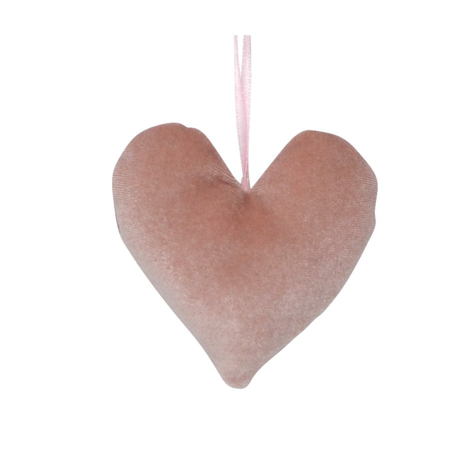 Velvet Heart Ornament | Pink