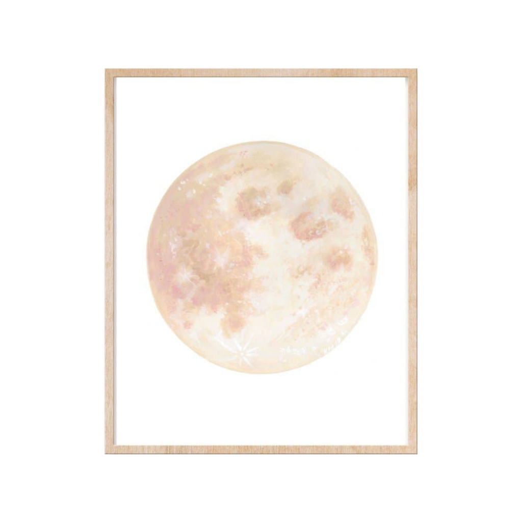 Blush Moon Art Print | 8x10