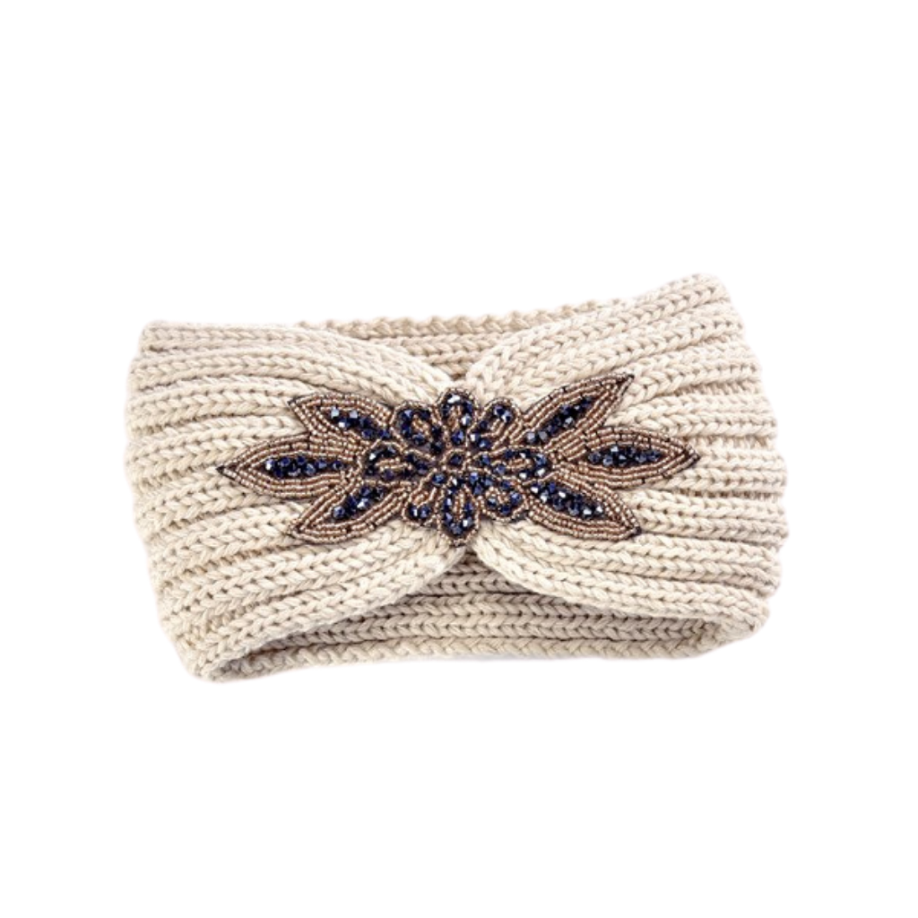 Jewelled Headband | Beige