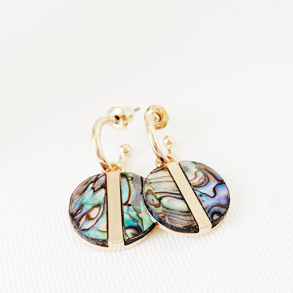 Mona Shell Earrings | Gold
