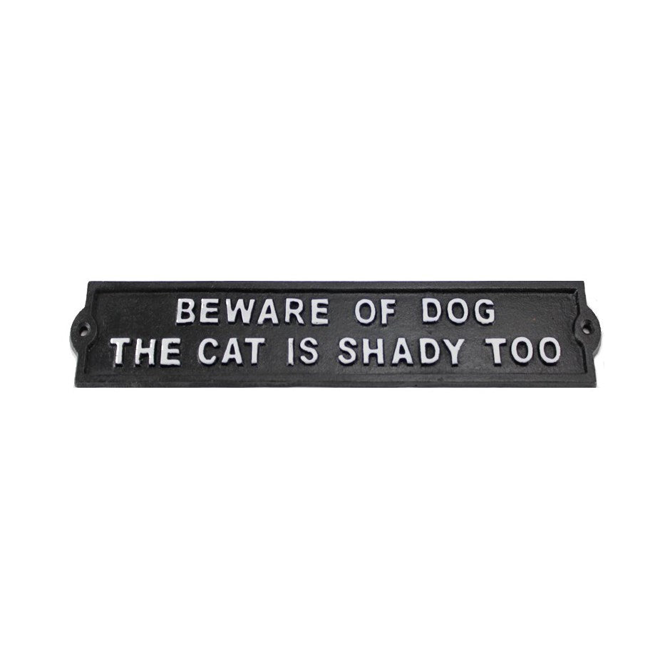Beware of Dog Sign | Cast Iron