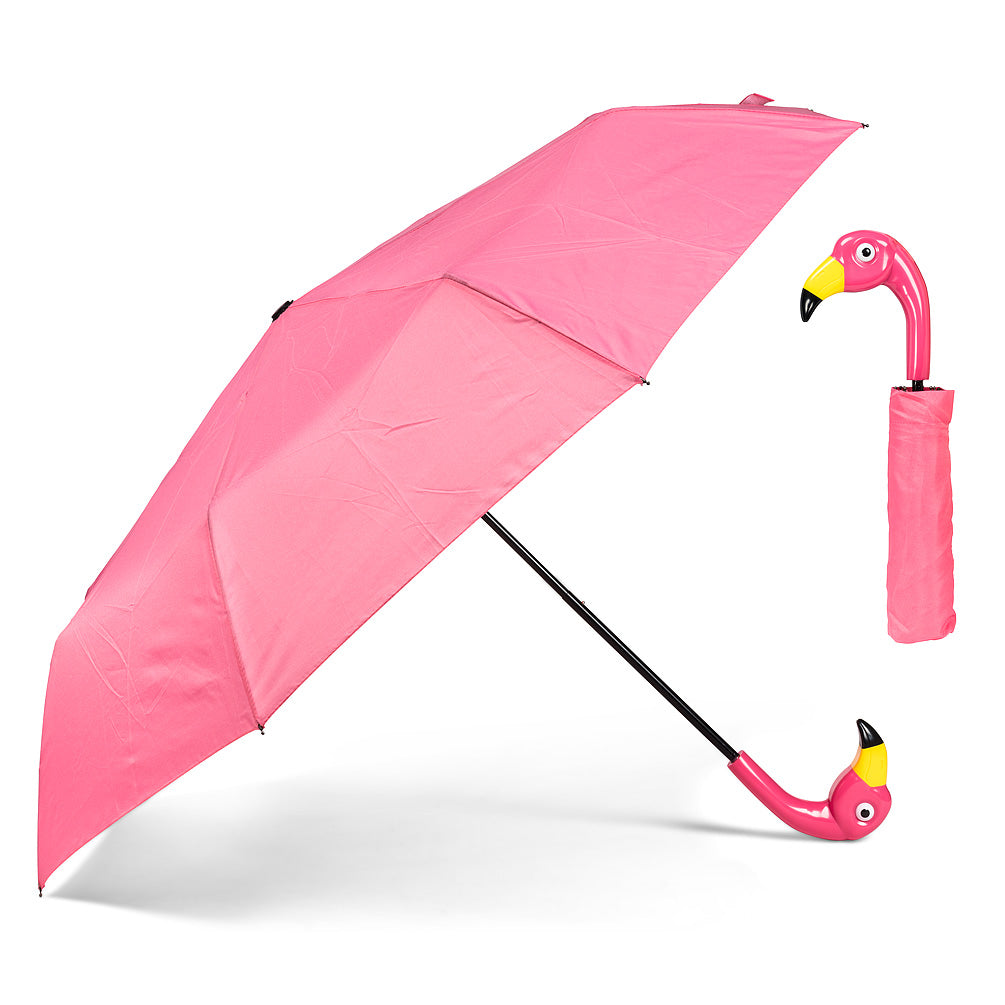Folding Flamingo Umbrella