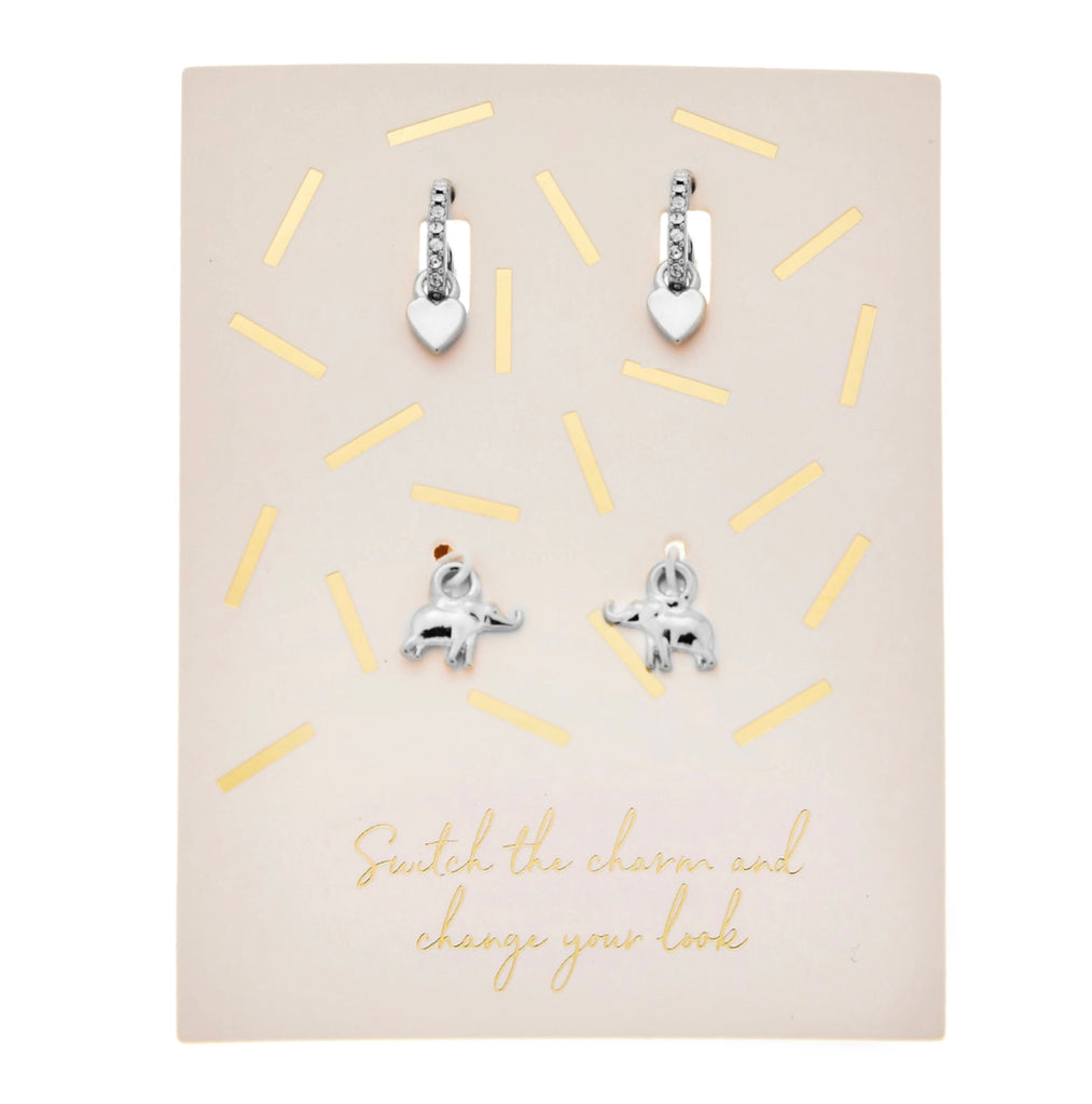 Charmed Life Earring Set | Silver