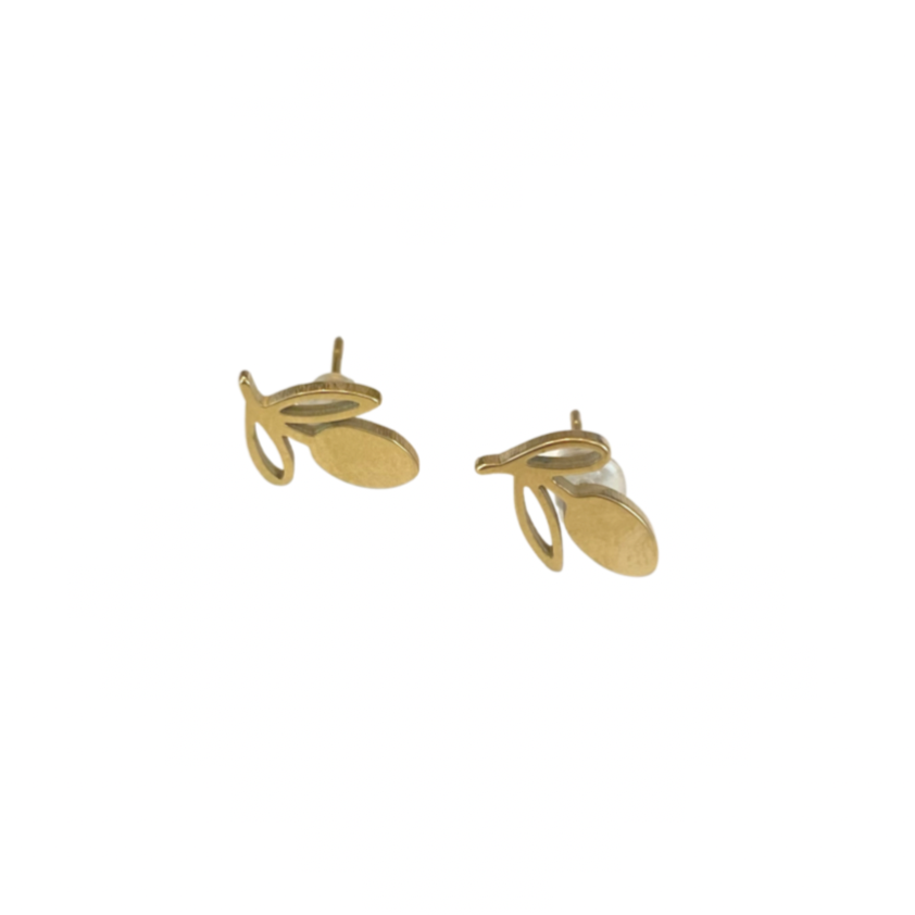 Mini Gold Lemon Studs