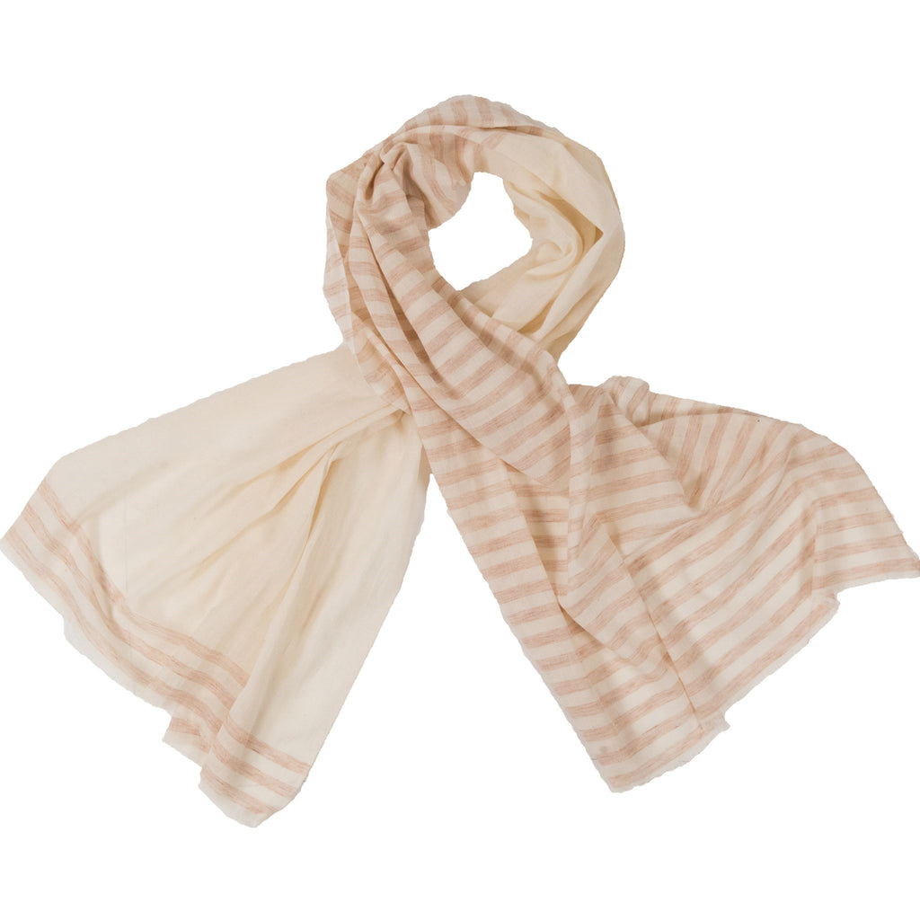 Striped Scarf | Rusty Peach