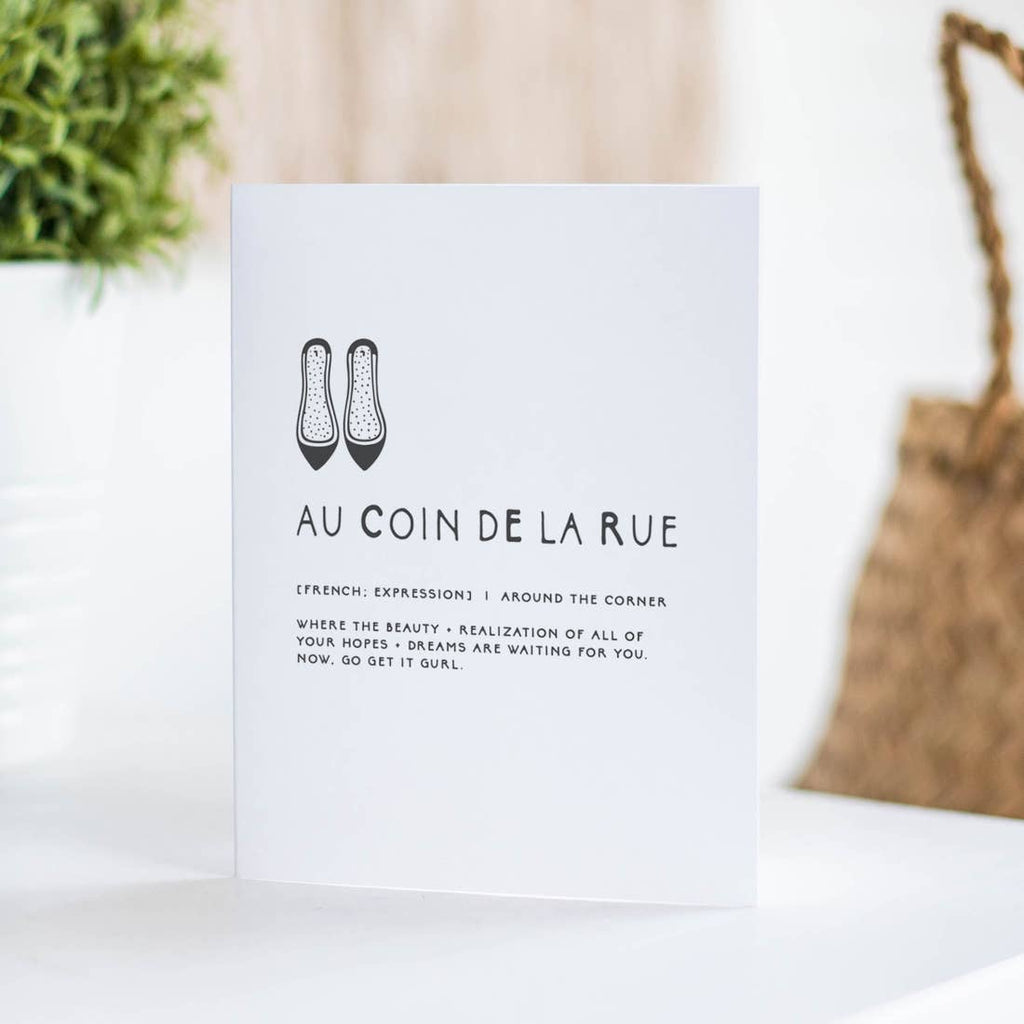 Au Coin De La Rue Greeting Card