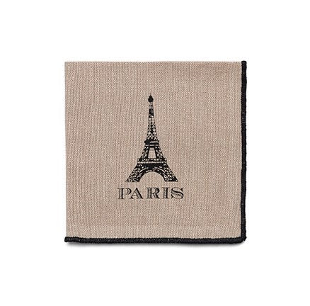 Paris Cocktail Napkins | Beige | Set of 12