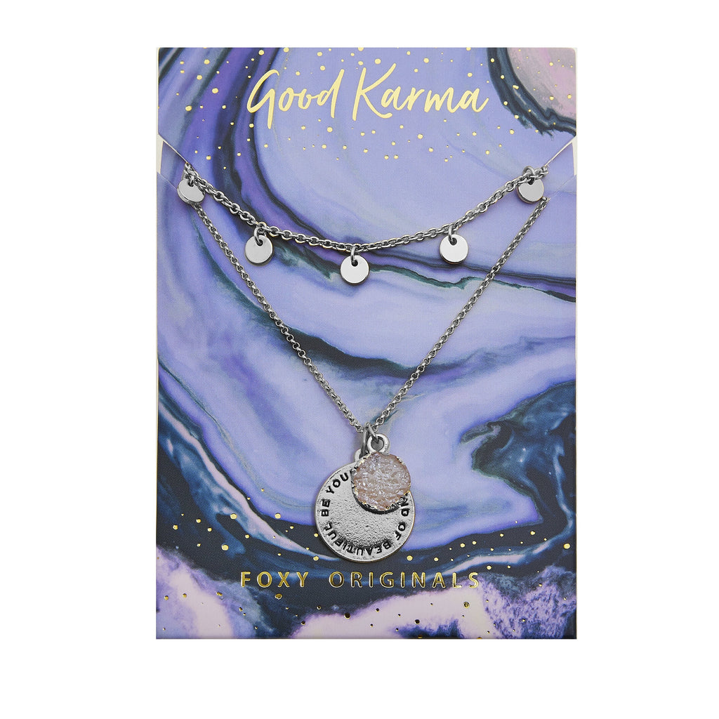 Good Karma Beautiful Necklace | Silver