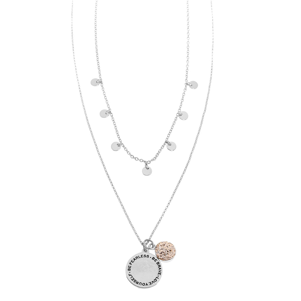 Good Karma Fearless Necklace | Silver
