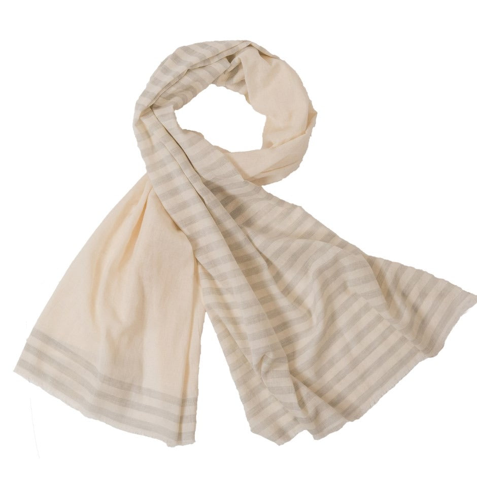 Striped Scarf | Blue Gray