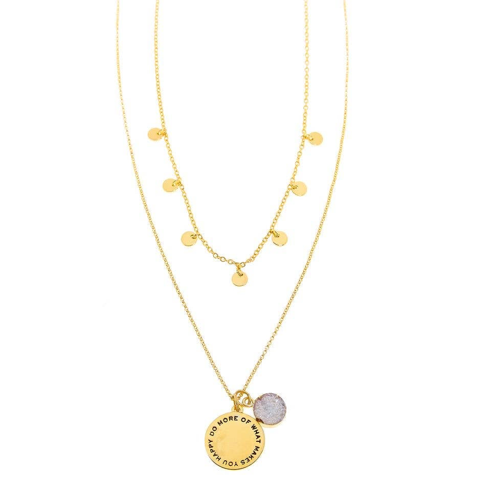 Good Karma Happy Necklace | Gold