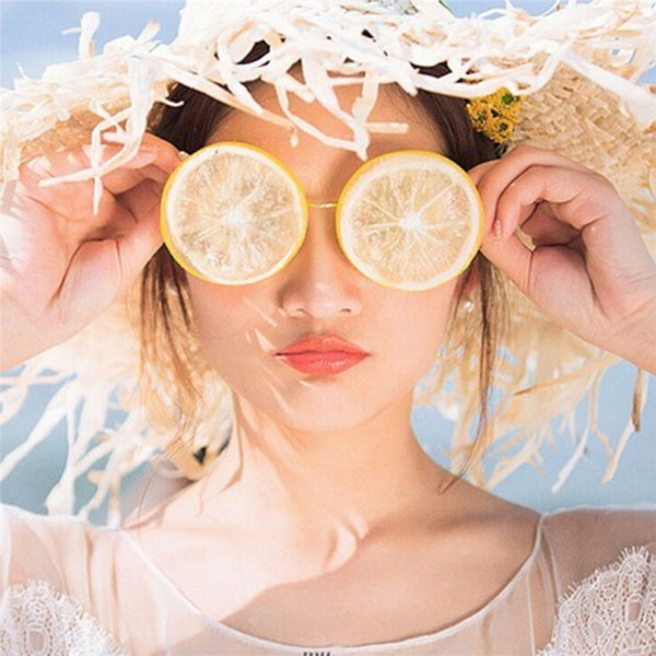 Lemon Glasses Creative DIY Beach Wedding Photography Studio Photos Funny Sunglasses Glasses Props