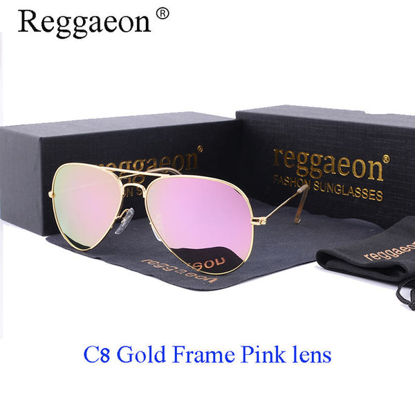 reggaeon luxury Glass lens sunglasses women 2019 High quality uv400 men Brand Designer beach box rays Pilot Sun glasses G15