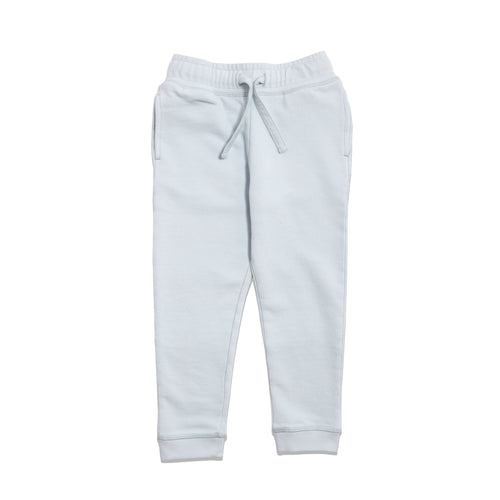 Smaller Things lightweight French terry cotton sweatpants light blue