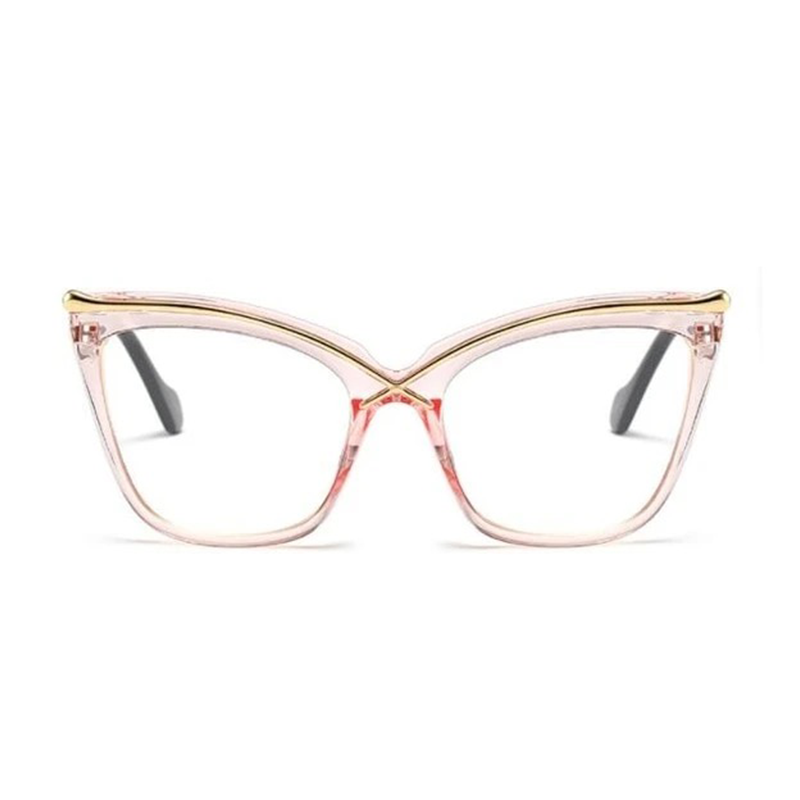 Ladies Cat Eye Brow Line Glasses Frames