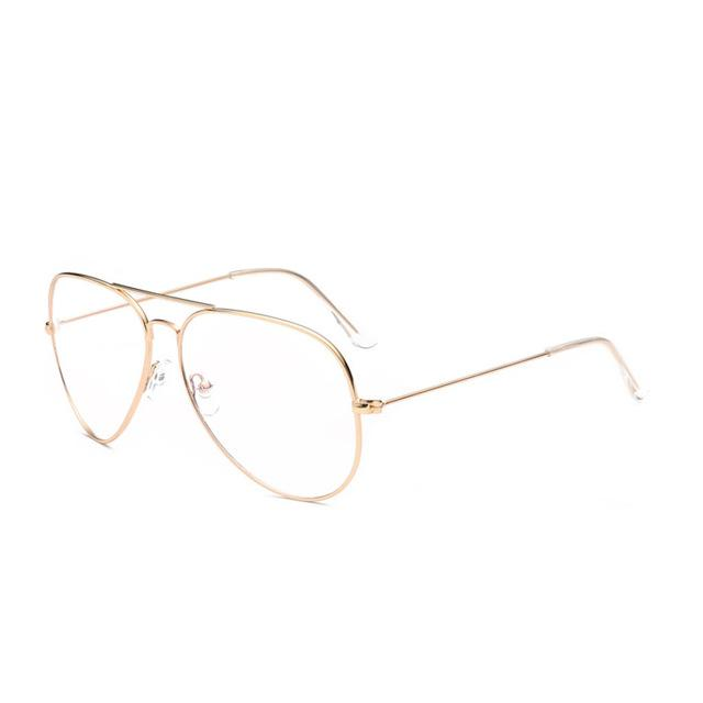 Retro Glasses Frame Women Aviation Eyeglasses