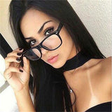 Retro Black Square Glasses Luxury Spectacle Frame Women