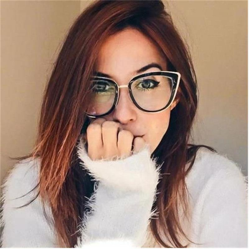 Black Cat Eye Glasses Women Eyeglasses Frame