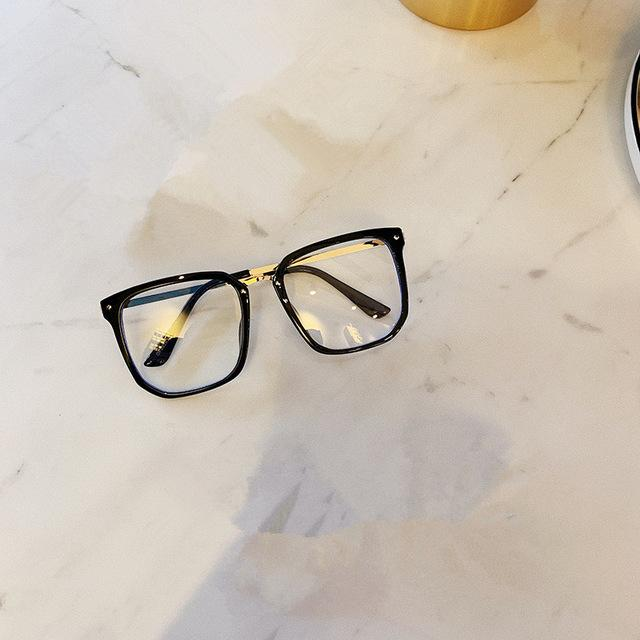 FOMOLOO Glasses Frame Square Oversized Myopia Glasses Frames