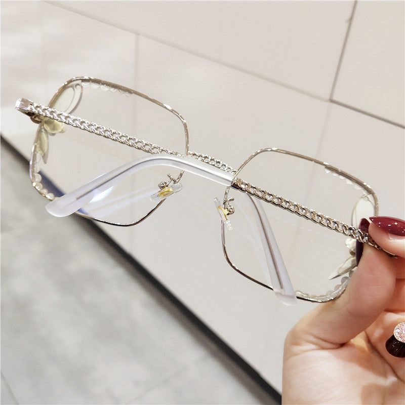 Square Blu-ray Clear Lens  Glasses
