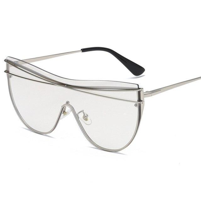Rimless Oversized Cat Eye Sunglasses