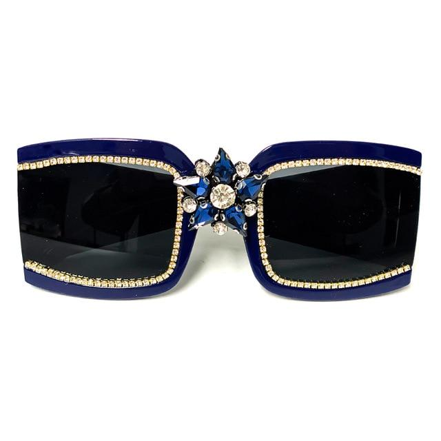 Luxury  Vintage Diamond Sunglasses
