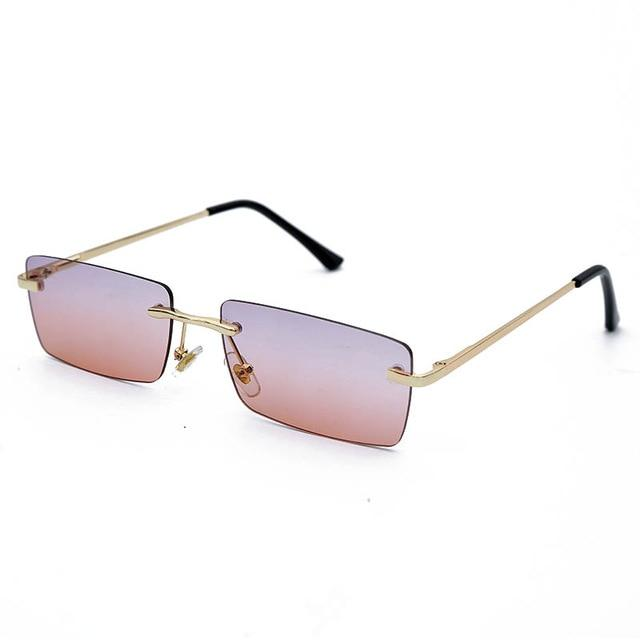 Rectangle Rimless Sunglasses