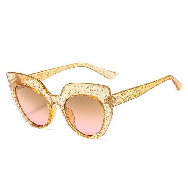Vintage Round Cat Eye Women Sunglasses
