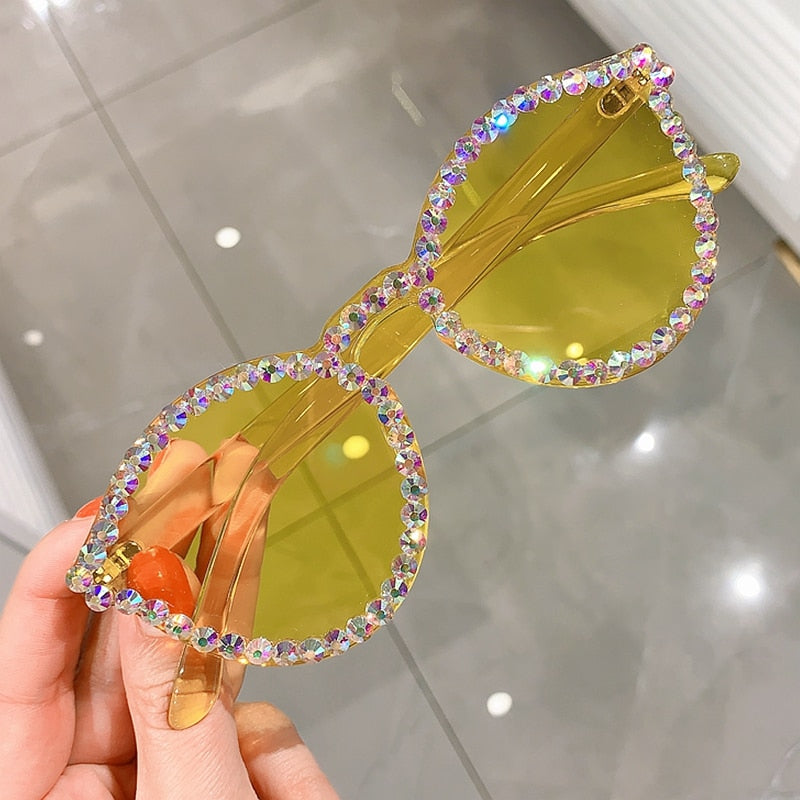 Sexy Rhinestone Cat Eye Sunglasses