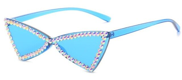 Lucy Crystal Rimless Sunglasses