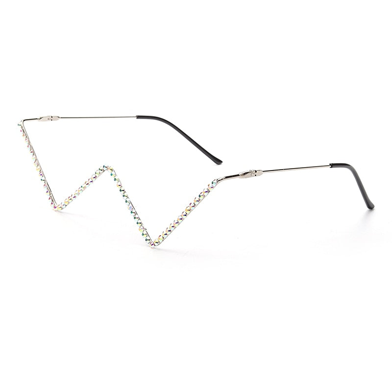 Diamond Steampunk Sunglasses Frames Triangle Eyeglasses Frames For Women